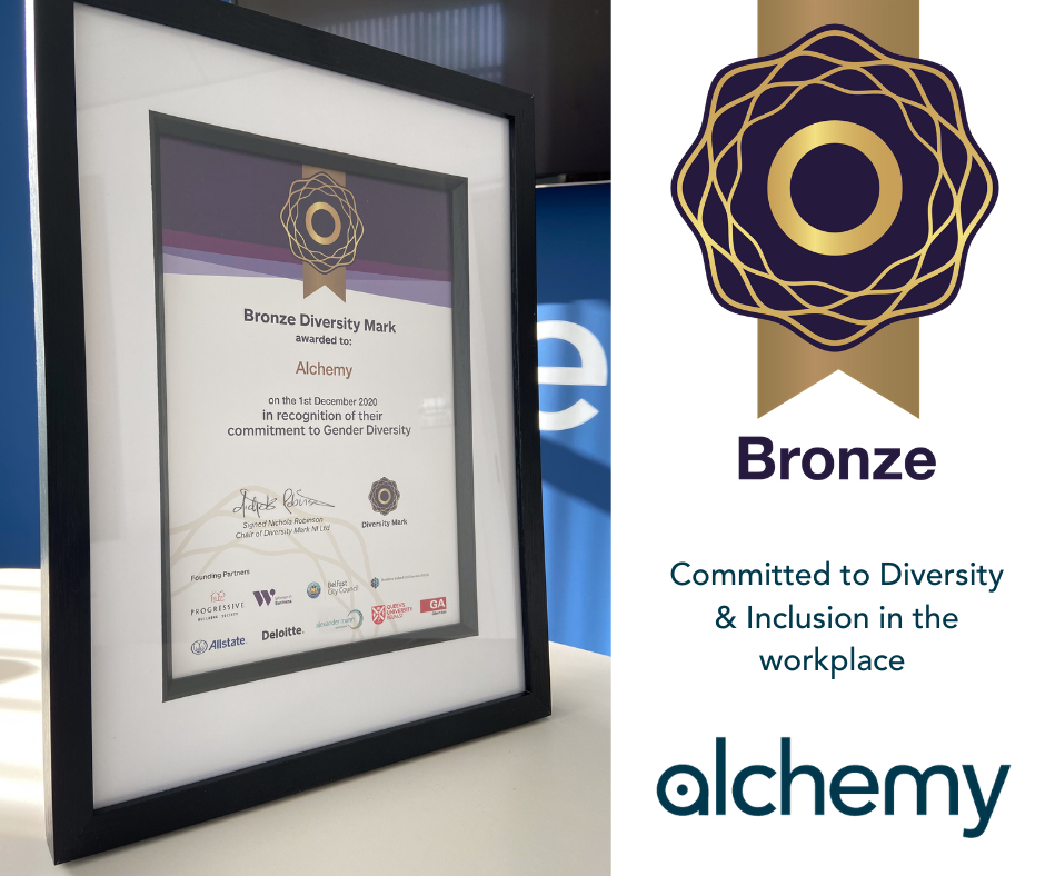 Alchemy Technology Services receives Bronze Diversity Mark NI Award