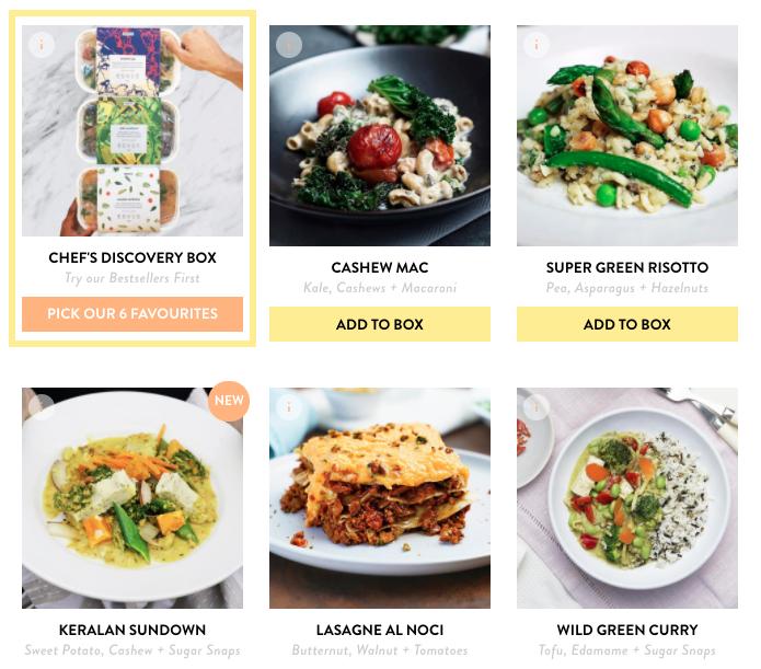 Plant-based meal, Allplants Menu sample featured image