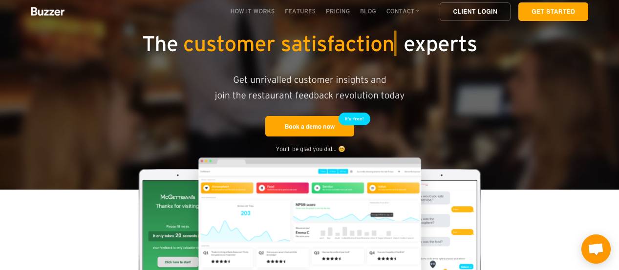 Buzzer mobilises customers to review their restaurant experience on-location