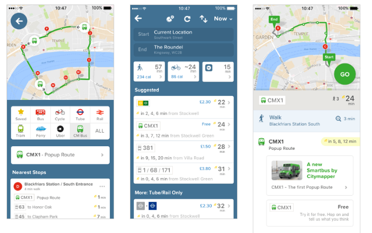 Citymapper smart bus tech
