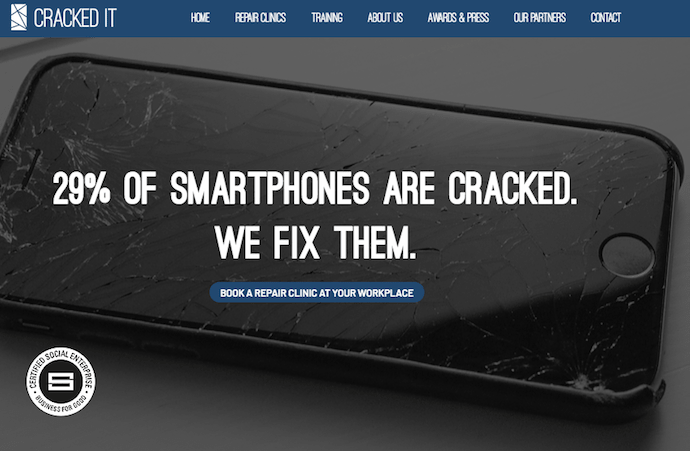 Cracked It - Mobile phone repair for social good