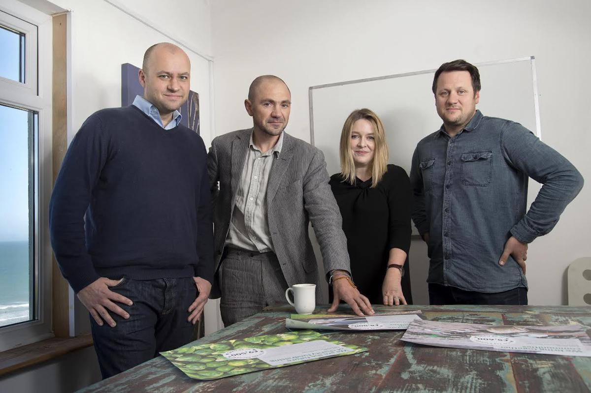 Image - Phil geraghty, MD, Rob Love, Chairman, Dawn Bebe, Director of Communications, Simon Deverell, Creative Director.