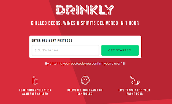 Chilled drinks delivery service Drinkly tastes early success