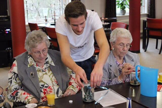 Students live rent free in nursing home