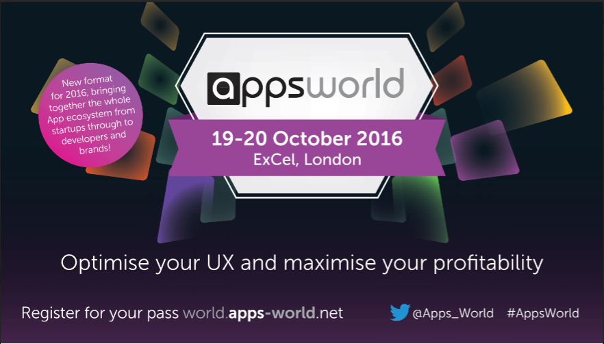 Book a free expo pass to apps world London