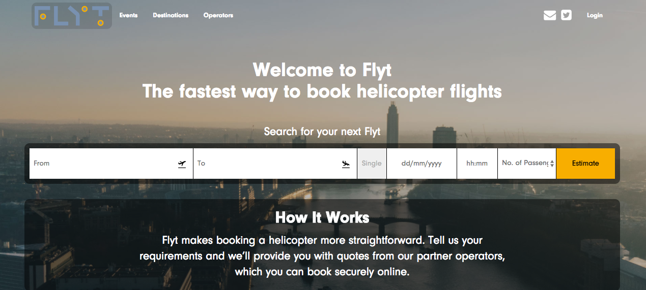 FLYT - the startup booking solution for helicopter charter set to take off