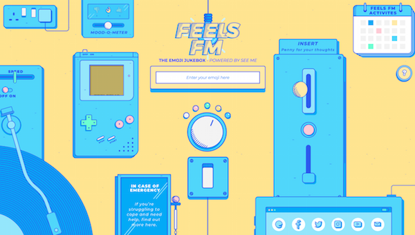 Feels FM - the emoji powered jukebox for mental health