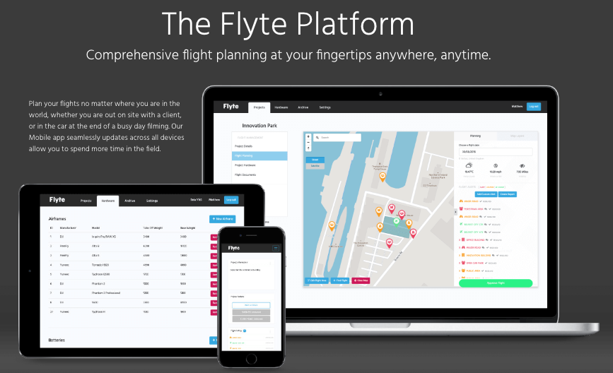 Flyte - flight planning for commercial drones