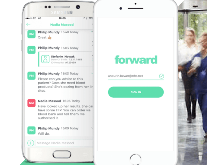 Forward - the communications tool for NHS health professionals