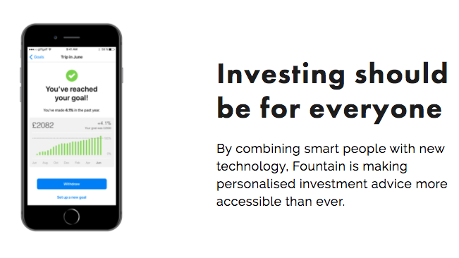Goal based investing platform Fountain raises first seed round