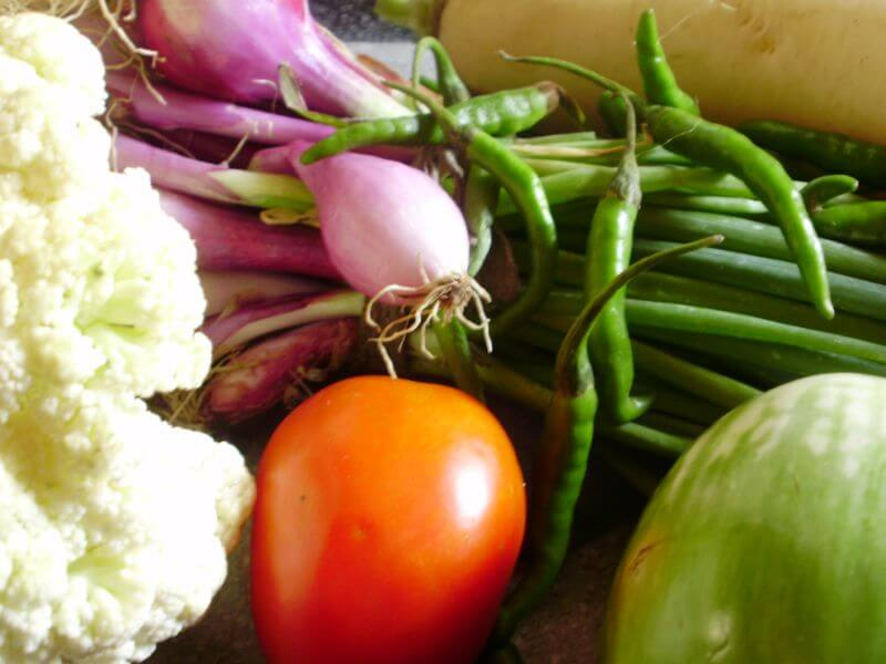 Fresh Vegetables from a Growing Community