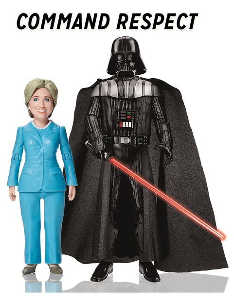 Hillary Clinton ready for action doll