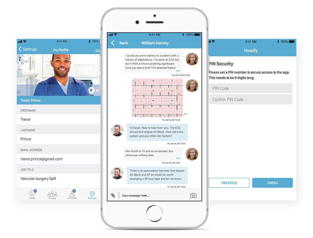 Hospify messaging app