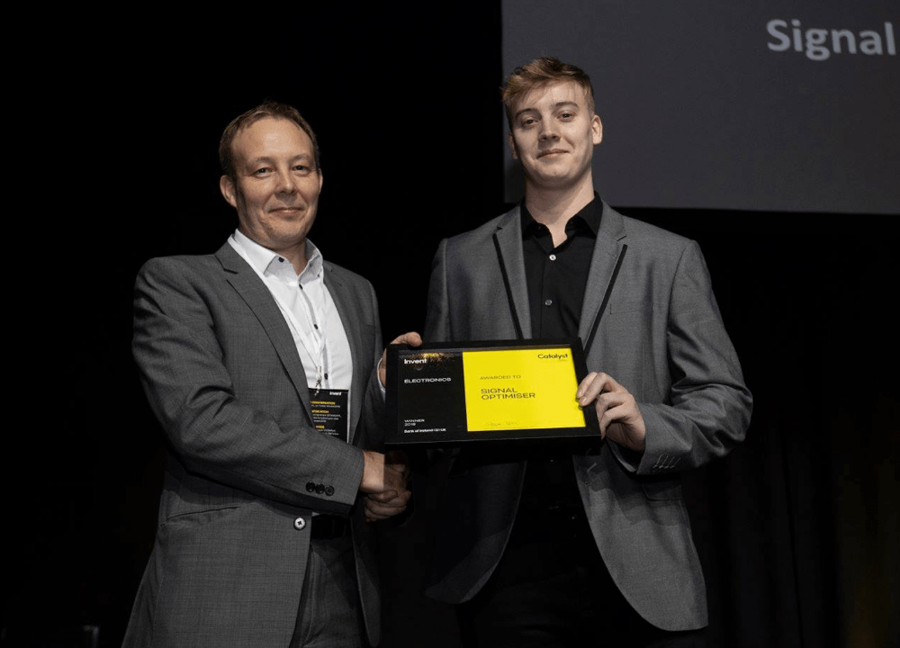 Lewis Loane with Signal Optimiser offers inspiration to other student entrepreneurs