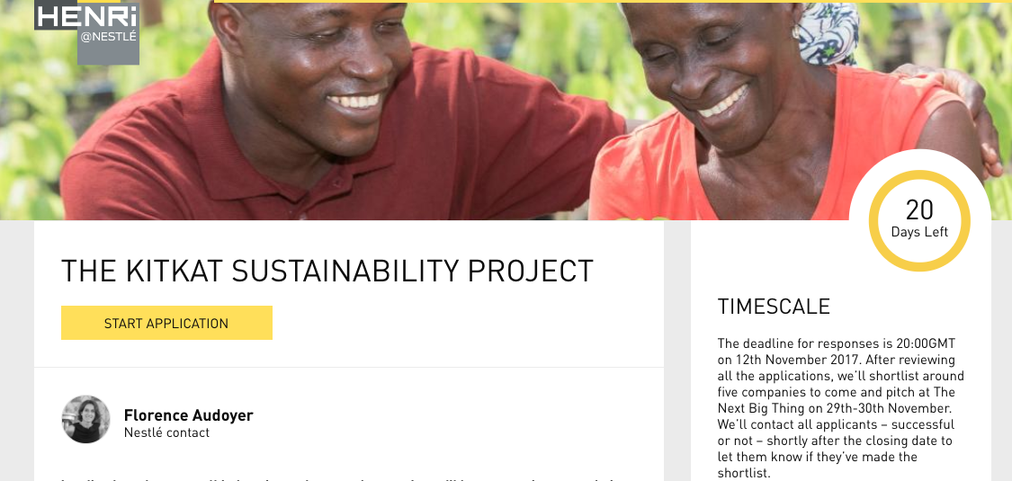 KITKAT Sustainability project