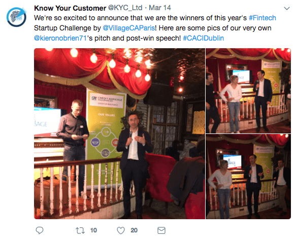 Know Your Company (KYC) Wins Fintech Startup Challenge