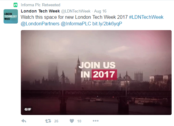 London Tech Week 2017 Partnership