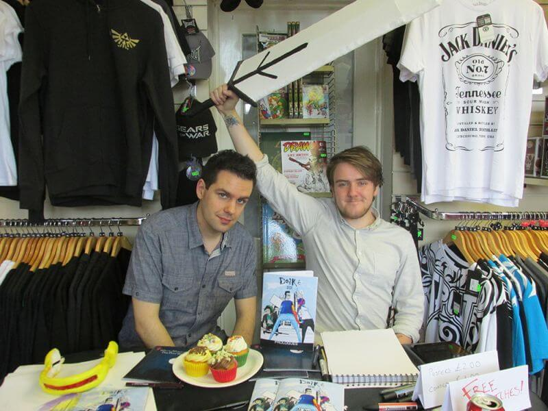 NN comics Creative Team, Niall Cavanagh(Left) and Nathan Donnell (Right)