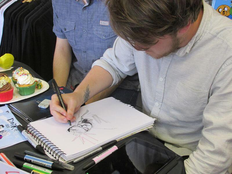 Nathan Donnell Doing Sketches at a local event