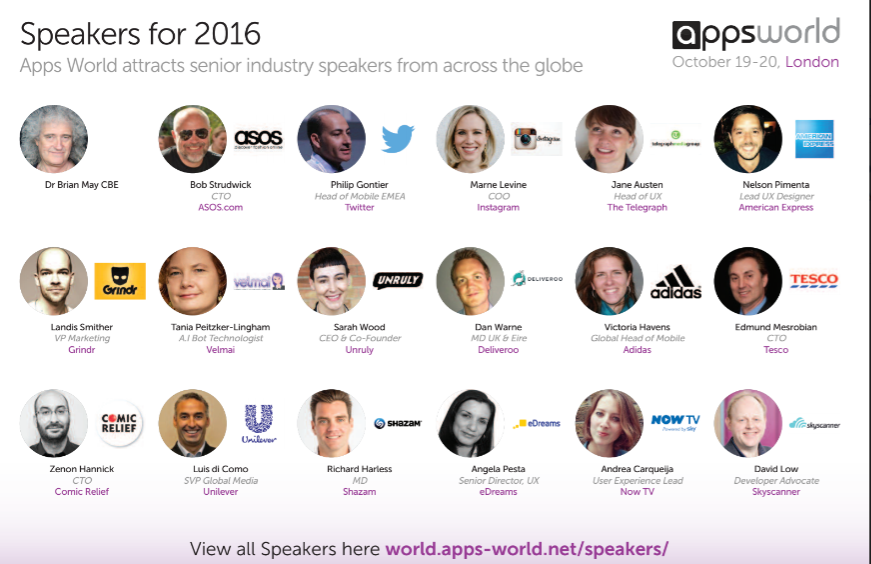 What's happening at Apps World London 2016