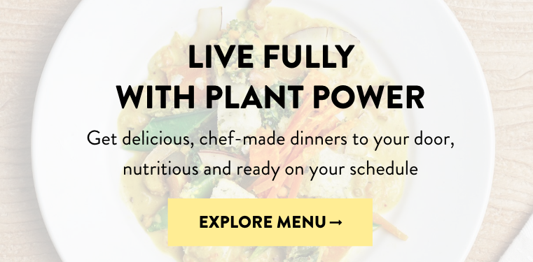 Plant powered meal delivery