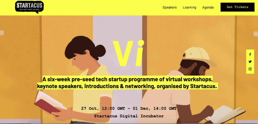 Tech Startup Incubator Vi offers access and information to pre-seed startups