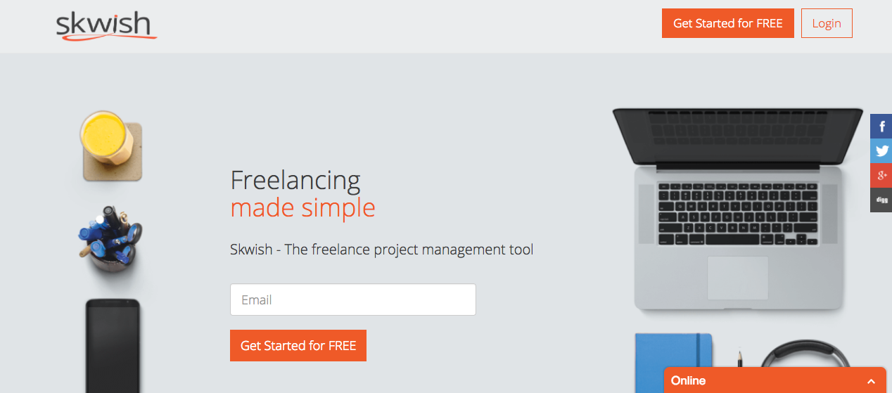 Skwish - project management tool for freelancers