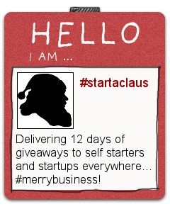 12 Days of Business Giveaways - Startaclaus