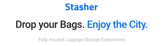 Stasher - drop your Bags