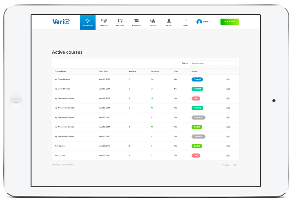 Veri software compliance