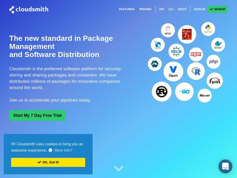 Cloudsmith package management and software distribution