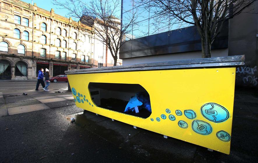 Homeless pod in Belfast